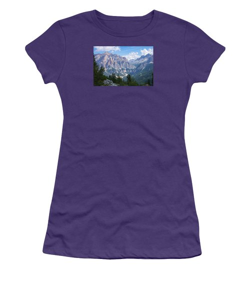 Dolomite Mountain View Women's T-Shirt (Athletic Fit)