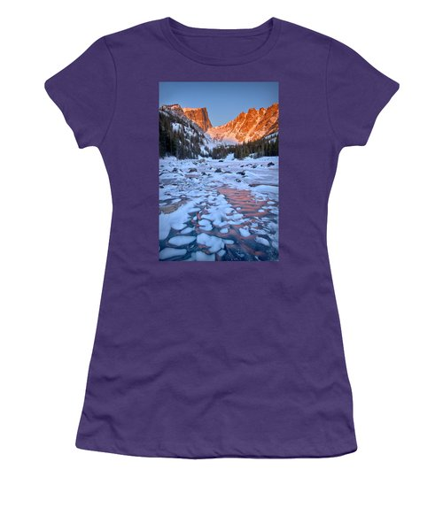 Dream Lake - Rocky Mountain National Park Women's T-Shirt (Junior Cut) by Ronda Kimbrow