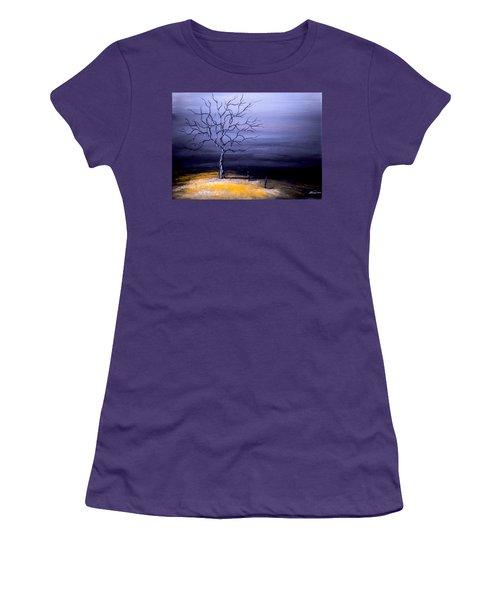Dry Winter Women's T-Shirt (Junior Cut) by Alban Dizdari