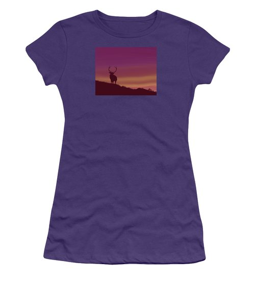 Elk At Dusk Women's T-Shirt (Junior Cut)