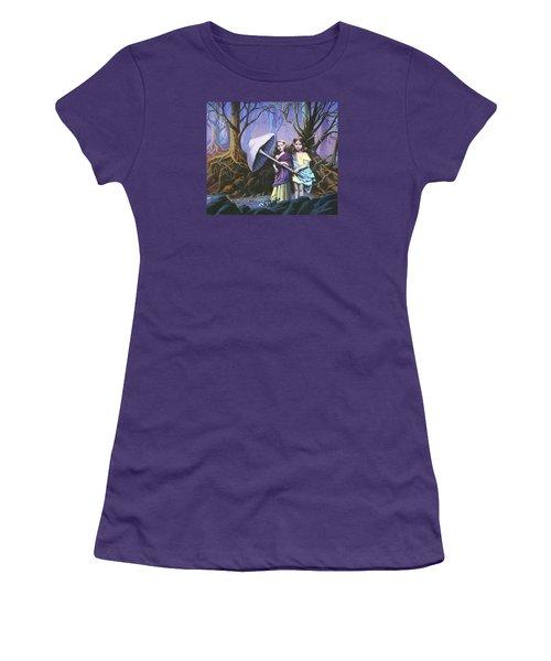 Enchanted Forest Women's T-Shirt (Junior Cut) by Vivien Rhyan