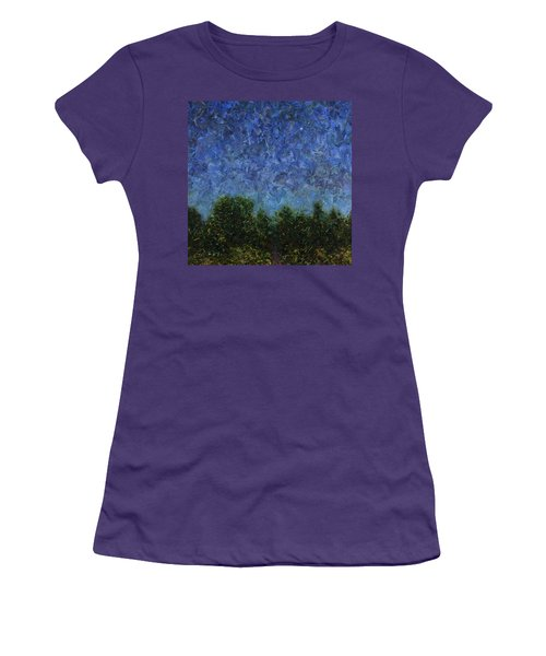 Women's T-Shirt (Junior Cut) featuring the painting Evening Star - Square by James W Johnson