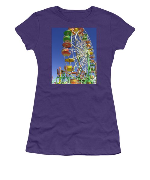 Ferris Wheel Women's T-Shirt (Junior Cut) by Marcia Socolik