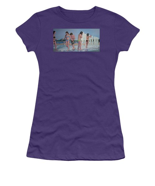 Five Fountain Friends Women's T-Shirt (Athletic Fit)
