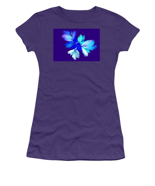 Women's T-Shirt (Junior Cut) featuring the digital art Floral Fantasy 012815 by David Lane