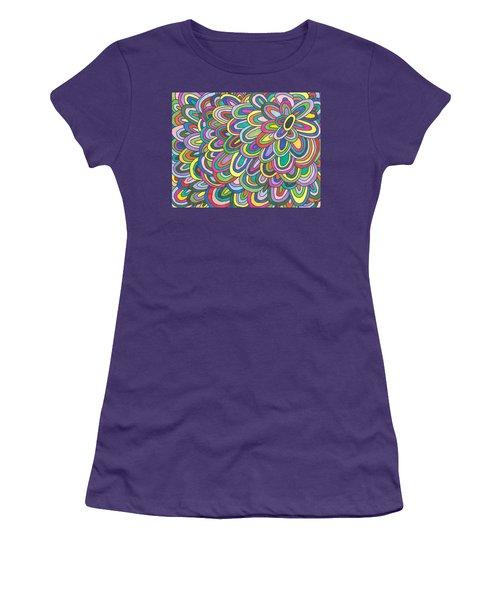 Flower Power Women's T-Shirt (Junior Cut) by Susie Weber