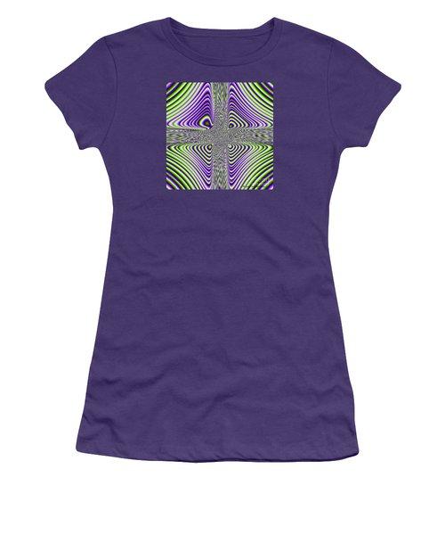 Women's T-Shirt (Junior Cut) featuring the digital art Fractal Four by Joan Hartenstein