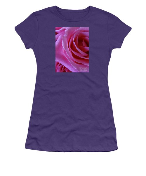 Face Of Roses 2 Women's T-Shirt (Junior Cut) by Gem S Visionary
