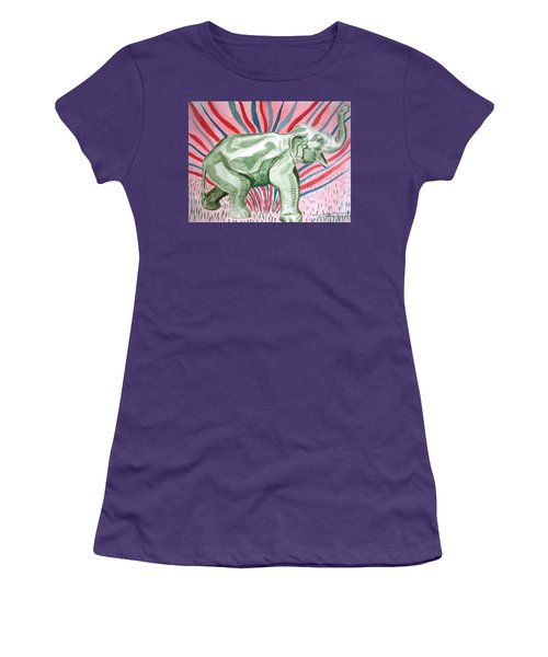 Gleeful Elephant Women's T-Shirt (Athletic Fit)