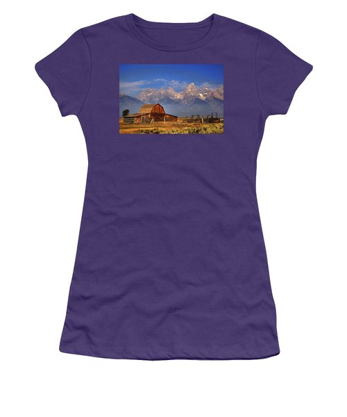 Grand Tetons From Moulton Barn Women's T-Shirt (Athletic Fit)