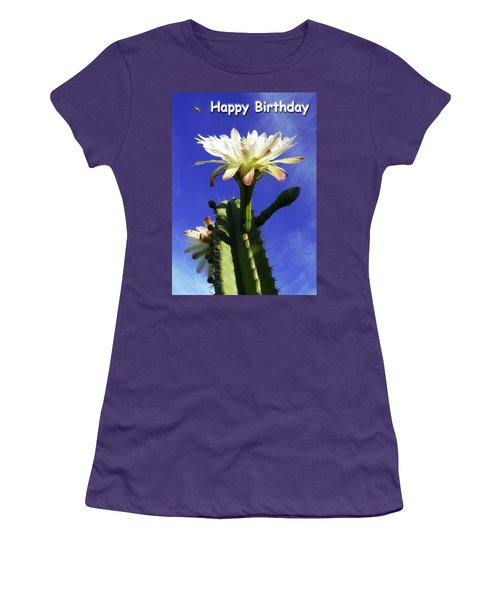 Women's T-Shirt (Junior Cut) featuring the photograph Happy Birthday Card And Print 11 by Mariusz Kula