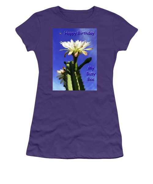 Women's T-Shirt (Junior Cut) featuring the photograph Happy Birthday Card And Print 13 by Mariusz Kula