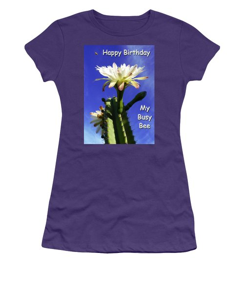 Women's T-Shirt (Junior Cut) featuring the photograph Happy Birthday Card And Print 14 by Mariusz Kula