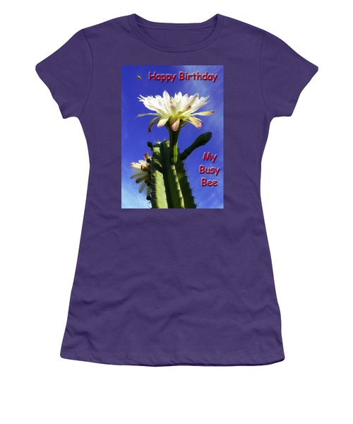 Women's T-Shirt (Junior Cut) featuring the photograph Happy Birthday Card And Print 15 by Mariusz Kula