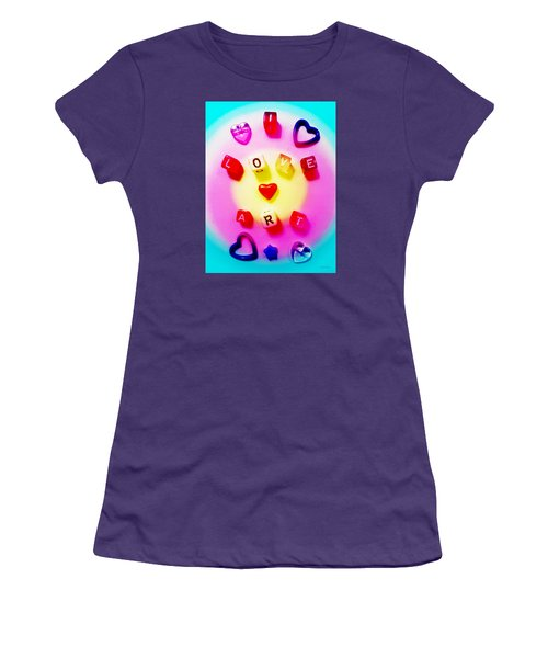I Love Art Women's T-Shirt (Junior Cut) by Shawna Rowe