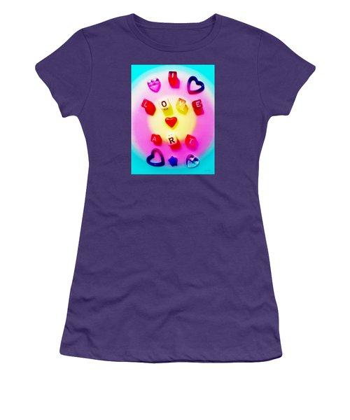Women's T-Shirt (Junior Cut) featuring the photograph I Love Art by Shawna Rowe