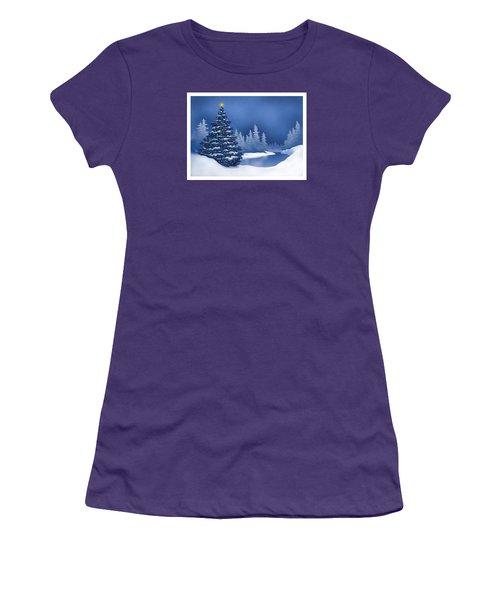 Icy Blue Women's T-Shirt (Junior Cut) by Scott Ross