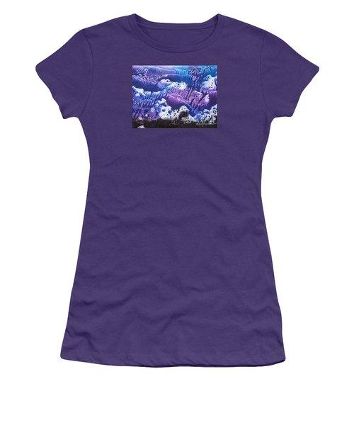 Women's T-Shirt (Junior Cut) featuring the painting Imagination 3 by Vesna Martinjak