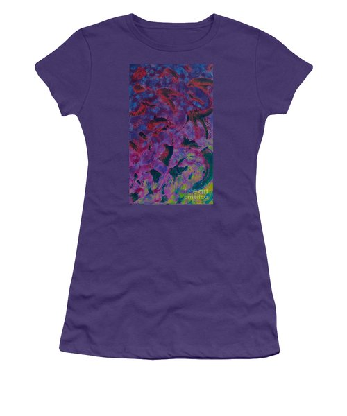Women's T-Shirt (Junior Cut) featuring the painting In The Mind's Eye by Jacqueline McReynolds