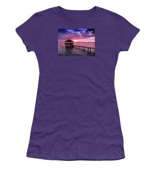 Women's T-Shirt (Junior Cut) featuring the photograph Into The Horizon by Rebecca Davis