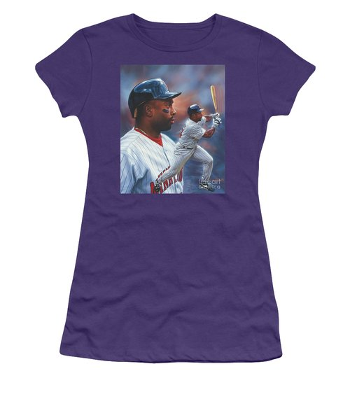 Kirby Puckett Minnesota Twins Women's T-Shirt (Athletic Fit)