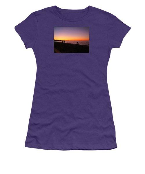 Lake Pontchartrain Sunset Women's T-Shirt (Athletic Fit)