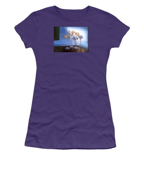 Light Glass And Shells Women's T-Shirt (Junior Cut) by LaVonne Hand
