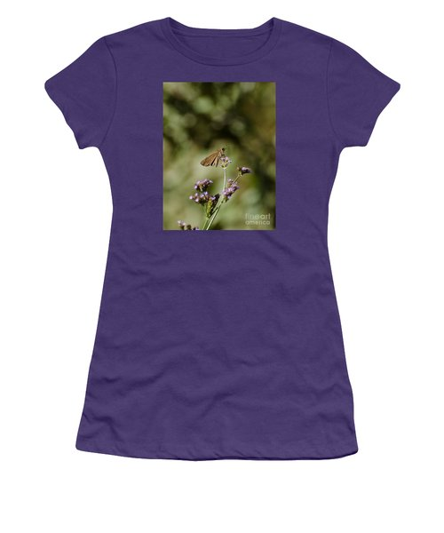 Long-winged Skipper Butterfly Women's T-Shirt (Athletic Fit)