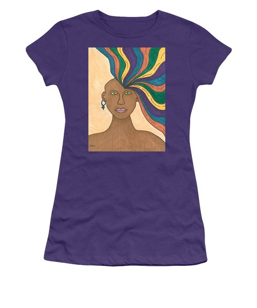 Women's T-Shirt (Junior Cut) featuring the painting Losing My Mind by Susie Weber