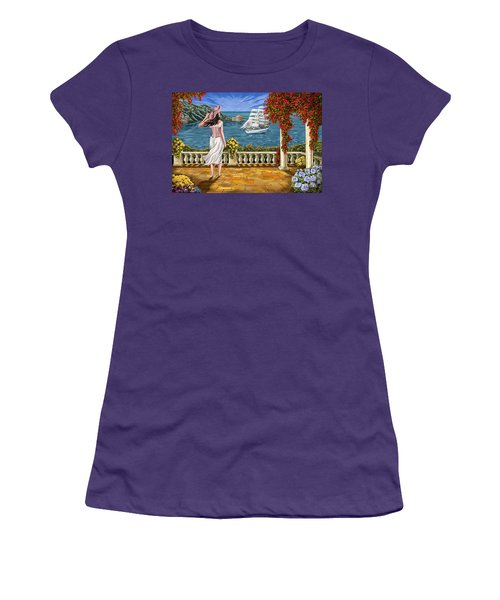Women's T-Shirt (Junior Cut) featuring the painting Love Is Coming Home by Tim Gilliland