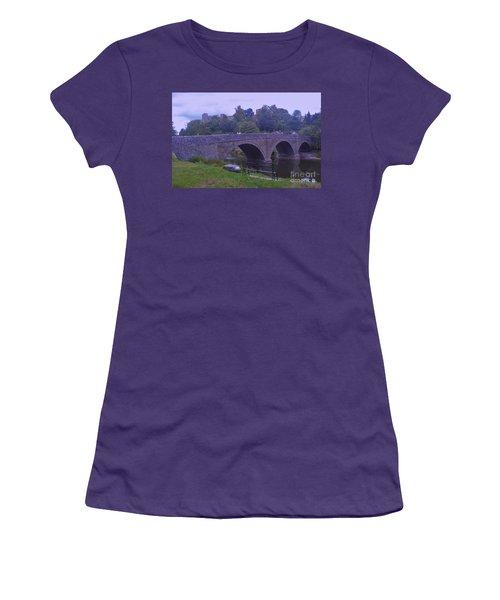 Women's T-Shirt (Junior Cut) featuring the photograph Ludlow Castle by John Williams