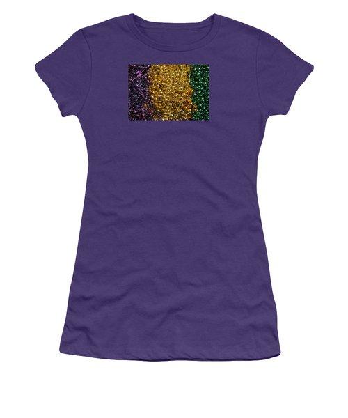 Mardi Gras Beads - New Orleans La Women's T-Shirt (Athletic Fit)