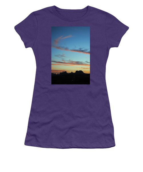 Monument Valley Sunset 3 Women's T-Shirt (Athletic Fit)