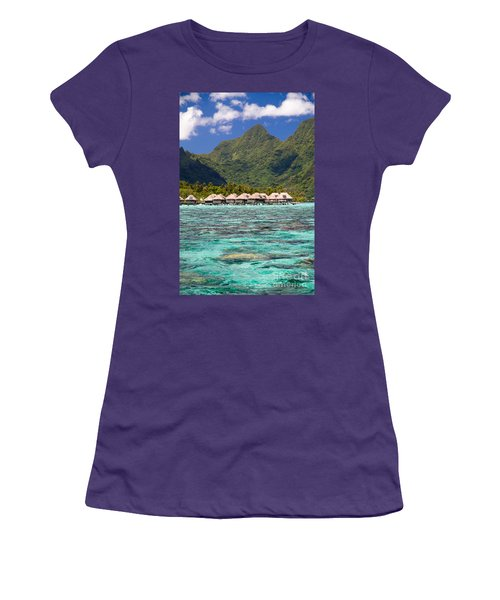 Moorea Lagoon No 3 Women's T-Shirt (Athletic Fit)