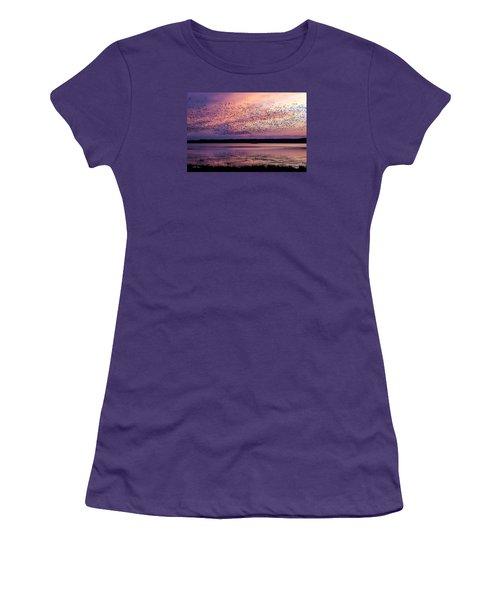 Morning Commute Women's T-Shirt (Junior Cut) by Joan Davis