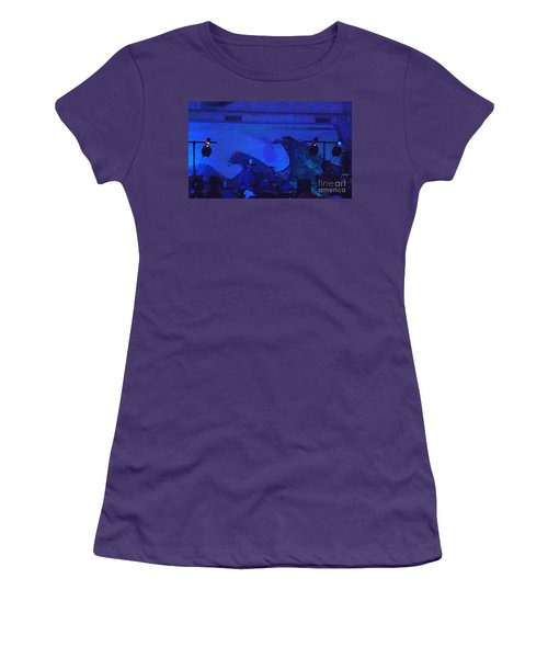 Women's T-Shirt (Junior Cut) featuring the photograph New Riders Of The Purple Sage 5 by Kelly Awad