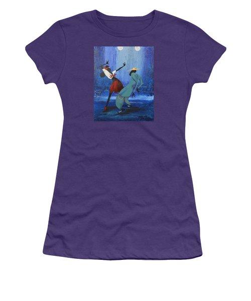 Oil Msc 017  Women's T-Shirt (Athletic Fit)