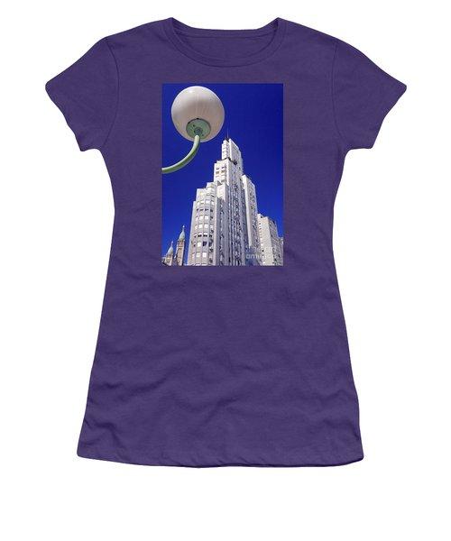 Women's T-Shirt (Junior Cut) featuring the photograph Onyric City by Bernardo Galmarini