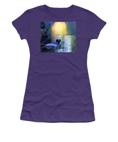Otter Family Women's T-Shirt (Junior Cut) by Dan Sproul