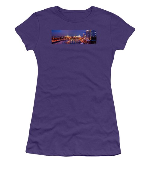 Panoramic View Of Moscow River And Moscow Kremlin  - Featured 3 Women's T-Shirt (Junior Cut) by Alexander Senin