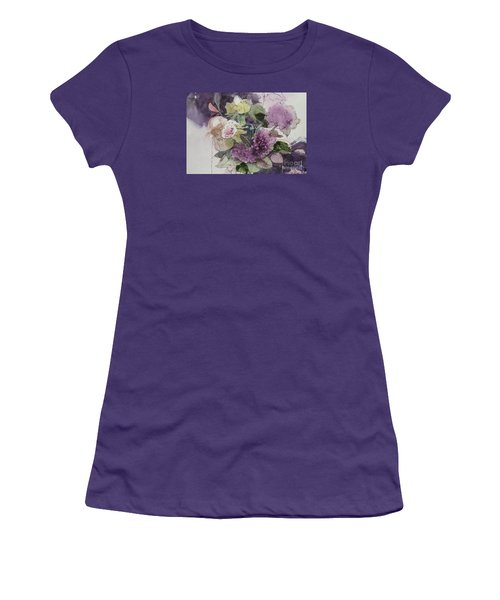 Women's T-Shirt (Junior Cut) featuring the painting Passionate About Purple by Elizabeth Carr