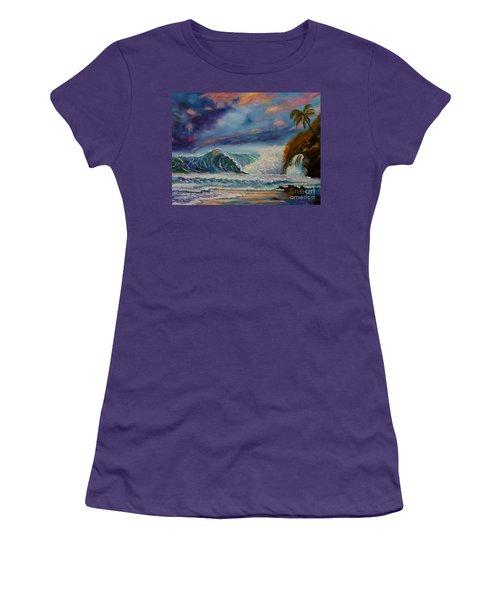 Pastel Sunset Women's T-Shirt (Athletic Fit)