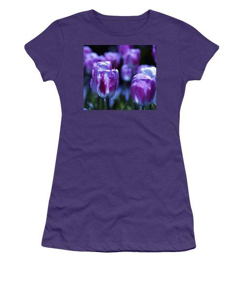 Women's T-Shirt (Junior Cut) featuring the photograph Peppermint Candies by Joe Schofield