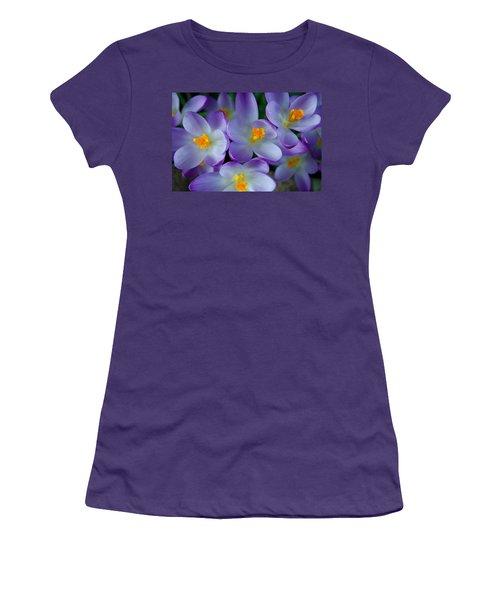 Purple Crocus Gems Women's T-Shirt (Athletic Fit)