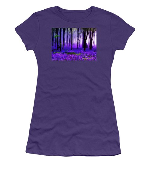 Purple Forest Women's T-Shirt (Junior Cut) by Bruce Nutting