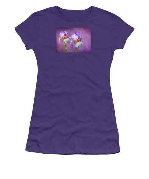 Purple Iris Women's T-Shirt (Junior Cut) by Lena Auxier