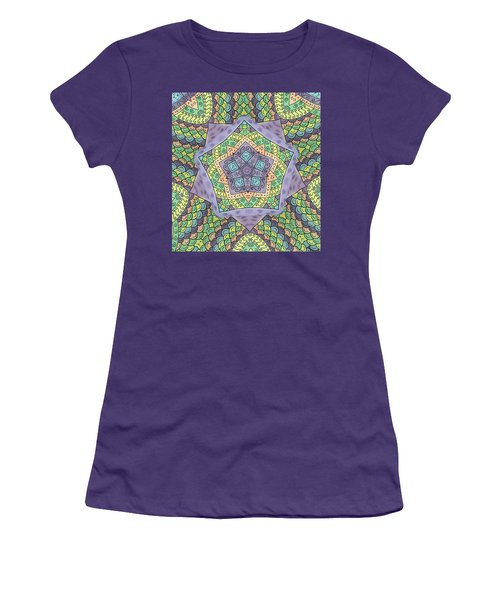 Women's T-Shirt (Junior Cut) featuring the painting Purple Passion by Susie WEBER
