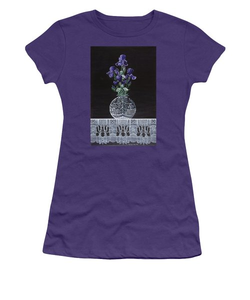 Women's T-Shirt (Junior Cut) featuring the painting Queen Iris's Lace by Jennifer Lake