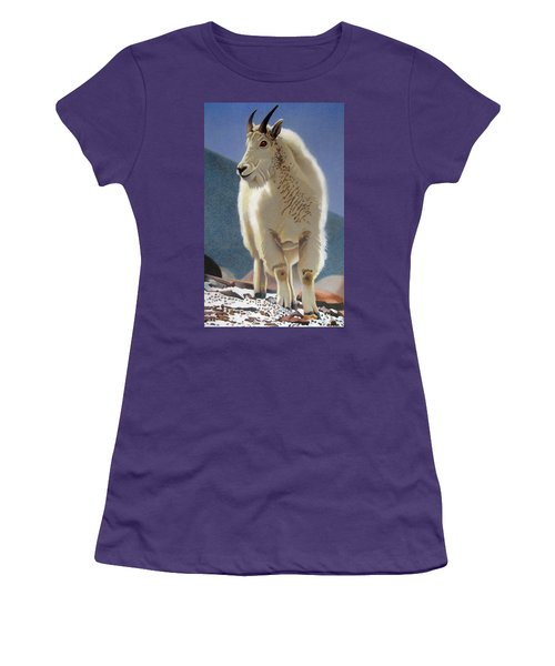 Rocky Mountain Goat Women's T-Shirt (Athletic Fit)