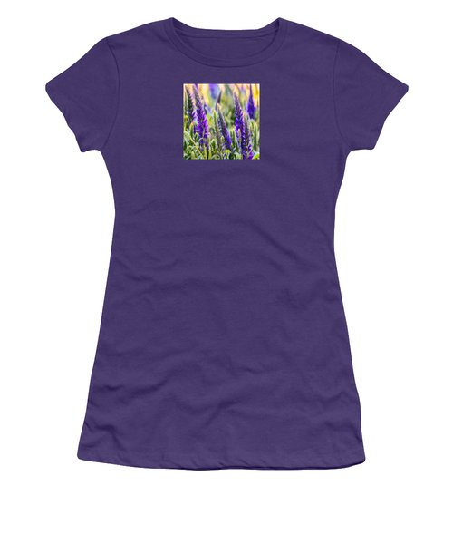 Salvia Sway Women's T-Shirt (Junior Cut) by Jean OKeeffe Macro Abundance Art